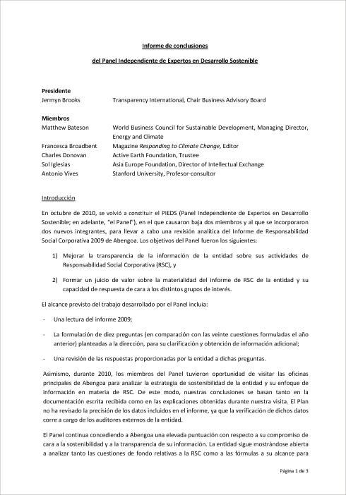 Abengoa Informe Anual 2010 :: Informe de Responsabilidad Social ...