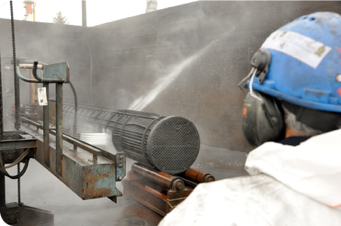 On-site cleaning of heat exchangers