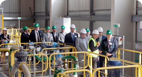 Unveiling of the new Waelz oxide leaching plant at Gravelines (France)